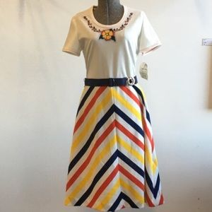 Dresses & Skirts - 1970s VINTAGE C.M. Courtney Striped Dress w Belt